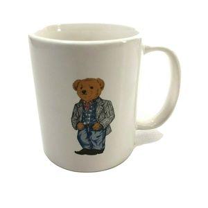 POLO RALPH LAUREN Cowboy Bear Coffee Mug 1997 VTG